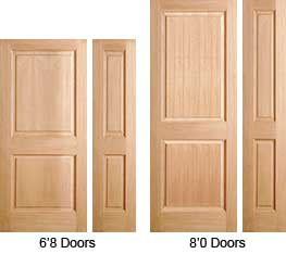 2 Panel Interior Doors Are Available In Different Sizes.